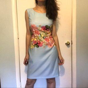 NWOT NY&C Blue Floral Dress